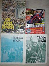 Revues FRANCE MOTO  n° 32, 38, MOTO REVUE programme officiel 40 bol d'or, HS 2