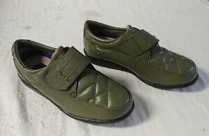Dr Scholls Gel Cushion Green Adjustable Strap Shoes Slip On New