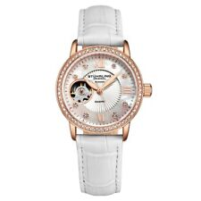 Stuhrling 3952 2 Legacy Automatic Skeleton Crystal Accented Leather Womens Watch