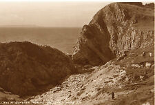 OLD POSTCARD - DORSET - The Cliffs at Lulworth showing Portland No 5316 JUDGES