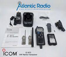 Icom Ic-M73 Vhf Marine Transceiver 6W Ipx8 submersible handheld M73
