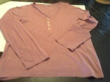 Margaret Howell Dusty Pink Egyptian Cotton Scoop Neck T -Shirt - Size 14