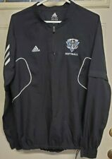 Adidas Authentic IPFW Official Mastodons Softball Pullover Jackets Sz Sm Black