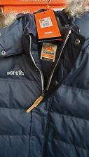 Scruffs Classic Gilet Bodywarmer Detachable Fur Hood NAVY LARGE ONLY, REDUCED.