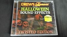 DREWS FAMOUS HALLOWEEN SOUND EFFECTS TWISTED EDITION CD TRICK OR TREAT HAUNTED