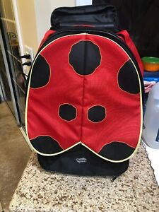 American Tourister Ladybug Backpack W/ Handle 2 Wheels Black/Red