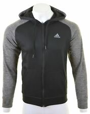 ADIDAS Mens Hoodie Sweater Small Black Polyester  IC14