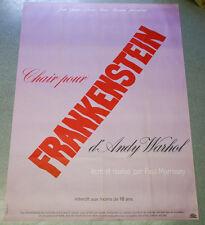 Affiche de cinéma : DE LA CHAIR POUR FRANKENSTEIN de Paul MORISSEY