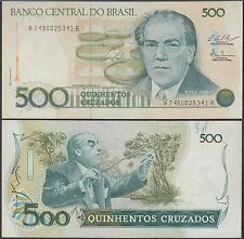 Brazil 500 Cruzeiros, 1987, P-212c, Circulated, Used, Fine Condition
