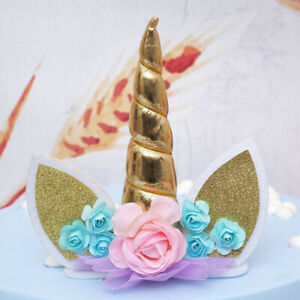 Cute Unicorn Horns Cake Topper Birthday & Baby Shower Party Supplies Décor