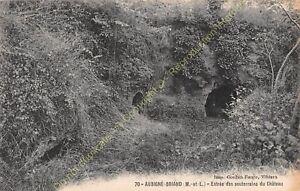 CPA 49540 AUBIGNé BRIAND Entrée des souterrains du Château Edit GOUBIN FAURE