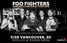 """Foo Fighters """"Concrete And Gold Tour 2018"""" Vancouver Concert Poster - Dave Grohl"""