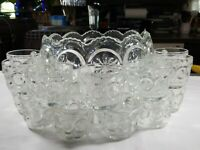 TIFFIN FRANCISCAN MOON & STAR PUNCH BOWL 14 CUPS