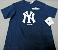 Boy's New York Yankees Navy Blue T Shirt Primary Logo 2017 Post Season MLB D2