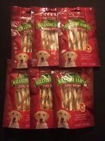 6pack- Bags Hillside Farms Chicken & Rawhide Jerky Dog Treats-FREE SHIPPING