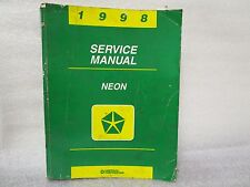1998 SERVICE MANUAL NEON 81-270-8025