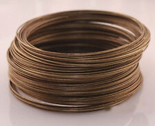 New 100/500 Loops Metal Memory Steel Wire Cuff Bangle Bracelet 60mm 6 Colors