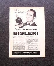 L701- Advertising Pubblicità -1960- BEVETE FERRO-CHINA , BISLERI