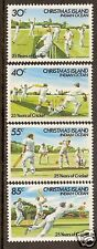 CHRISTMAS IS 1984 25 Years CRICKET 4v  MNH