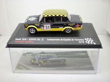 COCHE SEAT 124 2000 GR 2 RALLYE 1:43 IXO model car rally CAÑELLAS 1979 1/43 FIAT
