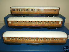 "HORNBY RAILWAYS  MODELS No's R 435 + 2 X R436  LNER GRESLEY  ""TEAK"" COACHES"