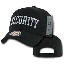 Black Security Guard Officer Law Enforcement Cotton Baseball Ball Cap Hat Hats