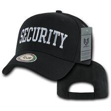 Black Security Guard Officer Law Enforcement Cotton Baseball Ball Cap Hat Hats