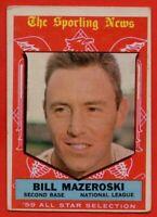 1959 Topps #555 Bill Mazeroski VG-VGEX MARK Pittsburgh Pirates All-Star FREE S/H