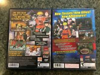 NARUTO Ultimate Ninja  + Uzumaki Chronicles 2 - PS2 Game Lot -