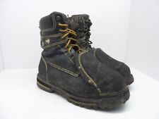 DAKOTA Men's 8'' Guard Steel Toe Steel Plate Metguard Work Boot Black 11M