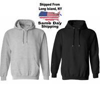 Blank Black Hoodies Blank Gray Hoodies Size XL Pullover Fleece Cotton Sweatshirt