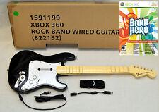 NEW OEM Rock Band 1 XBox 360 Wired Fender Guitar + Guitar Hero BAND HERO Game