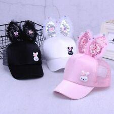 Baby Hat Spring Summer Baseball Cap Glitter Sequin Rabbit Ear Pearl Kids Designs