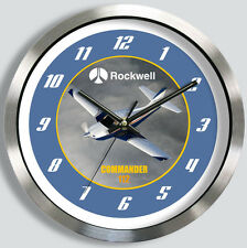 ROCKWELL COMMANDER 112 METAL WALL CLOCK 112A