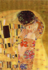 Klimt - The Kiss - 3D Lenticular Postcard Greeting Card, Gift Card