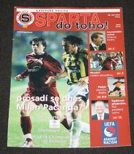 FOOTBALL PROGRAMME SPARTA PRAHA OLYMPIQUE LYONNAIS UEFA CHAMPIONS LEAGUE 2004-05