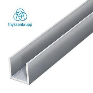 Alu U-Profil Aluminium U-Schiene C-Profil Almg Kantenschutz Fliesen Kantenschutz
