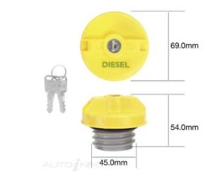 Locking fuel Cap With 2 Keys FITS Toyota Hilux Diesel 2005-2016 Screw Type Cap