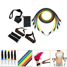 11pc/set Pull Rope Exercise Resistance Bands Home Gym Equipment Workout Fitness