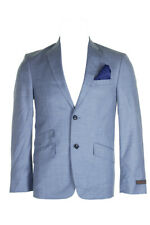 Ben Sherman Tailoring Mens Light Blue Slim-Fit Suit Jacket S36