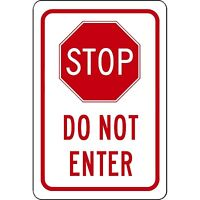 "STOP DO NOT ENTER no entry 8"" x 12"" Aluminum Sign WILL NOT RUST MADE USA"