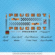 Peugeot PY/PX10 Bicycle Decals - Transfers - Stickers - Orange/Black - Set 543