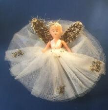 Vintage Plastic Christmas Tree Fairy Angel Decoration