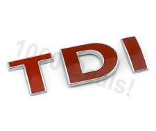 TDI Emblem Schriftzug Logo Rot Zeichen Golf Passat Touran VW Jetta Chrom