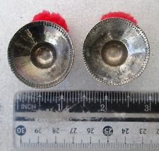 Vintage Karen Hill Tribe Silver Flesh Tunnel Earrings Ear Plugs 1.25 inch