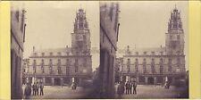 Calais Hôtel de ville France Photo Stereo Vintage Albumine ca 1865