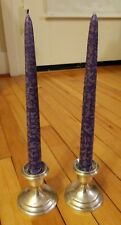 VINTAGE REVERE STERLING SILVER WEIGHTED CANDLE STICKS HOLDERS MODERN FLARE