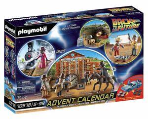 """PLAYMOBIL 70576 Calendario dell'avvento """"Back To The Future""""  Parte III"""