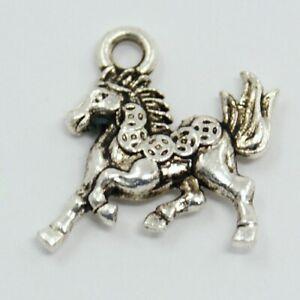 Antique Silver Horse Charms Pendant Animal Charm Necklace Bracelet Charm Tibetan
