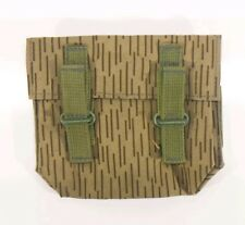 New 3 Magazine Cell Ammo Pouch Rain Camo Pattern East German Military